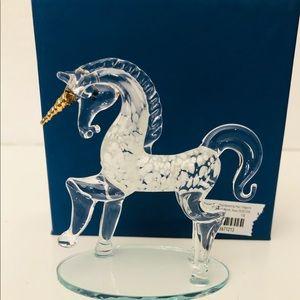 Pier1 NWT Handblown Glass Unicorn